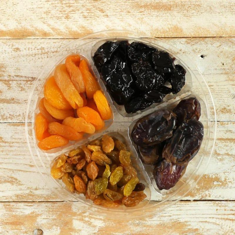 מגש פירות יבשים 4 תאים